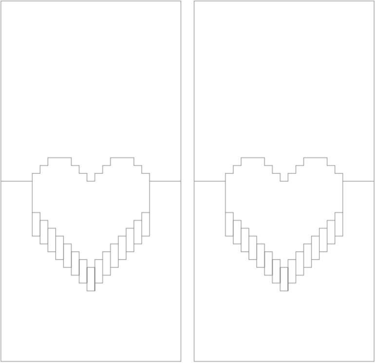 Анимация, объемная открытка сердце своими руками поэтапно