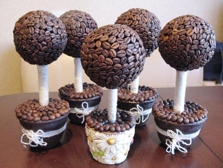 Делаем кофейное дерево приносящее удачу