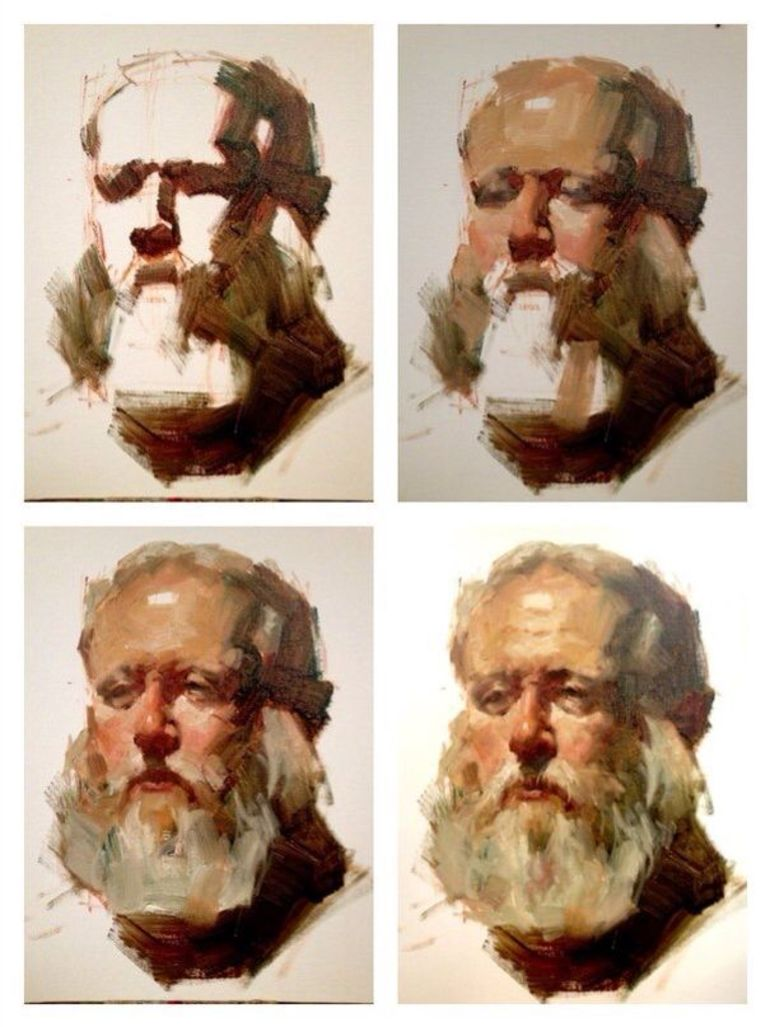 Как написать портрет маслом