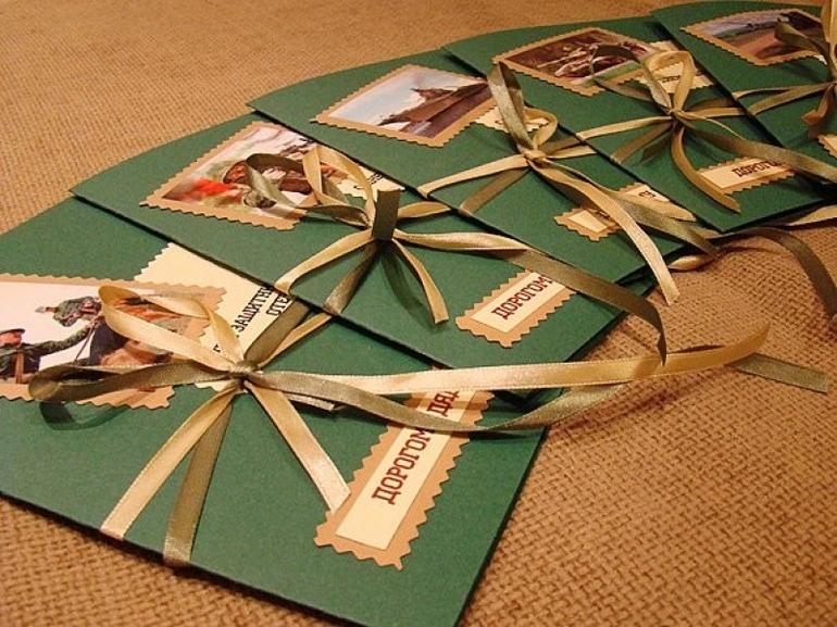 Как сделать красивую открытку другу на 23 февраля, для