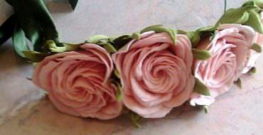 Ободок с розами, фото