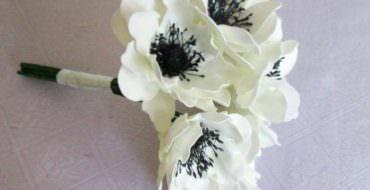 Анемон из фоамирана, фото