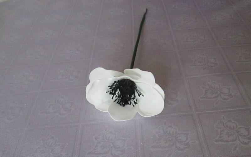 Мастер-класс, цветок анемона из фоамирана, фото пошаговое