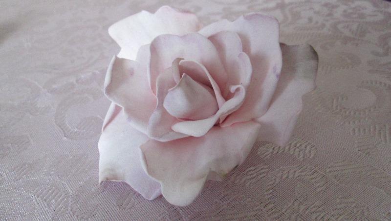 """Мастер-класс по фоамирану - заколка, брошь роза """"Летний бриз"""", пошаговое фото"""