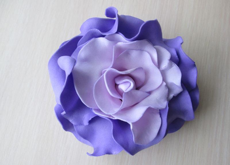 Роза из зефирного фоамирана, мастер-класс № 1