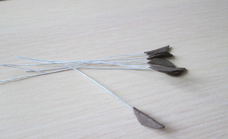 Тычинки лилии из фоамирана, фото пошаговое