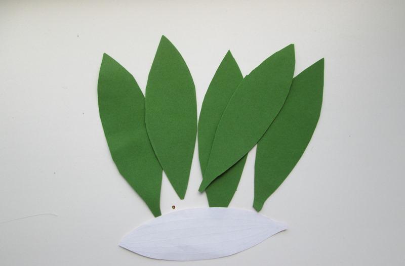 Листья лилии из фоамирана, фото