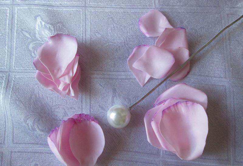 МК роза из зефирного фоамирана, фото пошагово