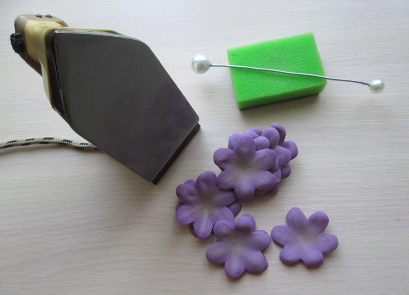 Маттиола из фоамирана: пошаговый МК цветы из фоамирана