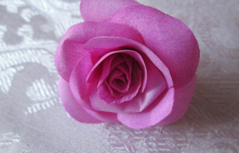 Бутон розы из фоамирана, мастер-класс № 3, пошаговое фото