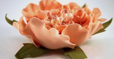Пионовидная роза из фоамирана, МК, фото