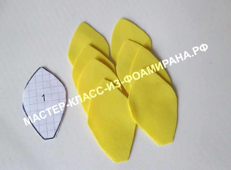 Воротничковый георгин из фоамирана: пошаговый МК с фото