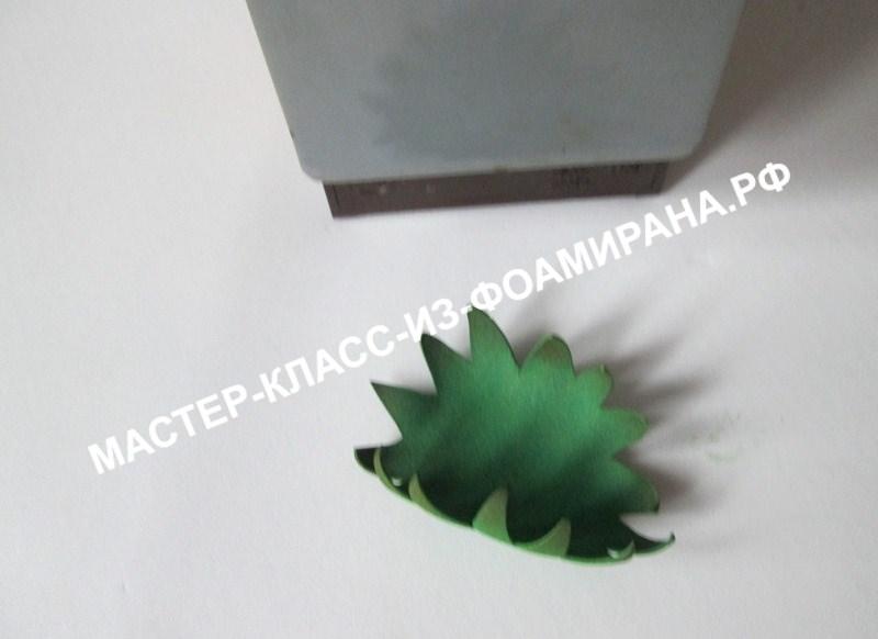 Астровидный георгин из фоамирана, мастер-класс, фото