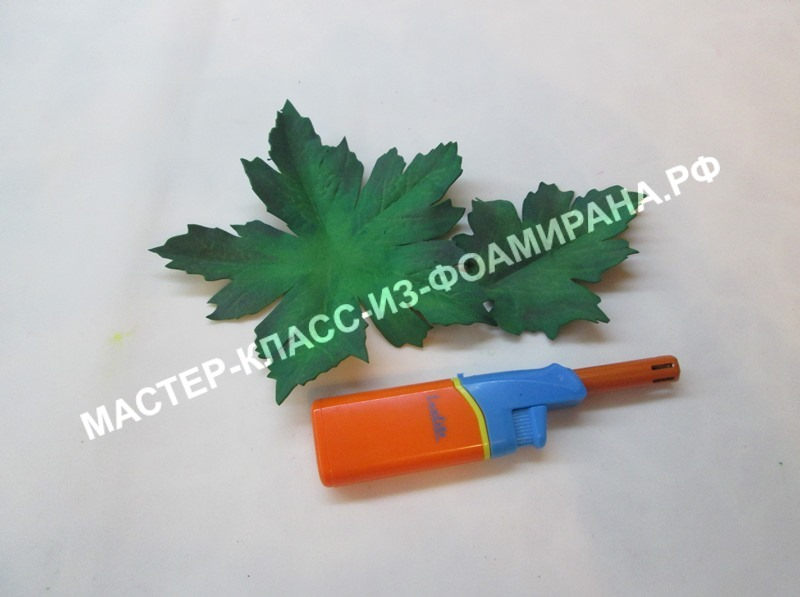 Как сделать листья для хризантемы из фоамирана, мастер-класс, пошаговое фото