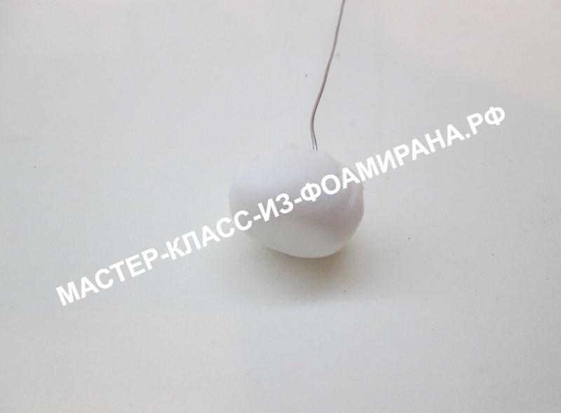 Белый одуванчик из фоамирана, фото МК