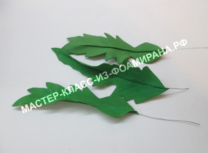 Листья одуванчика из фоамирана, фото