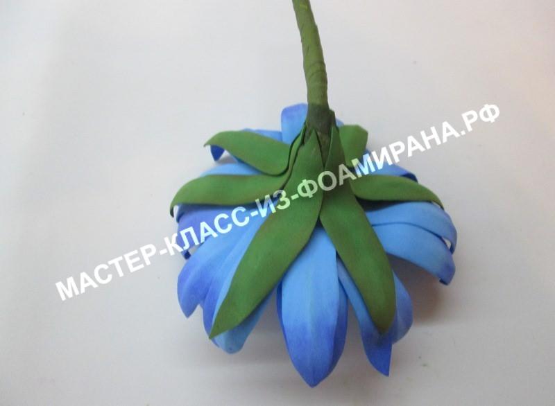 Цветок лотоса из фоамирана, фото