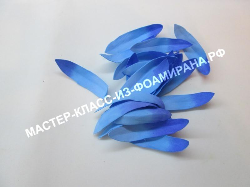 Лепестки лотоса из фоамирана, фото
