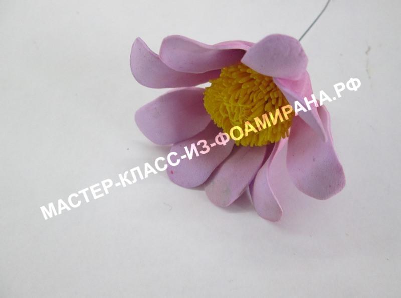 Цветы из фоамирана хризантема, МК с фото (сборка)