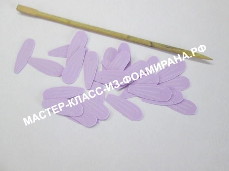 Цветы из фоамирана хризантема, МК с фото (делаем лепестки)