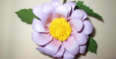 цветы из фоамирана хризантема
