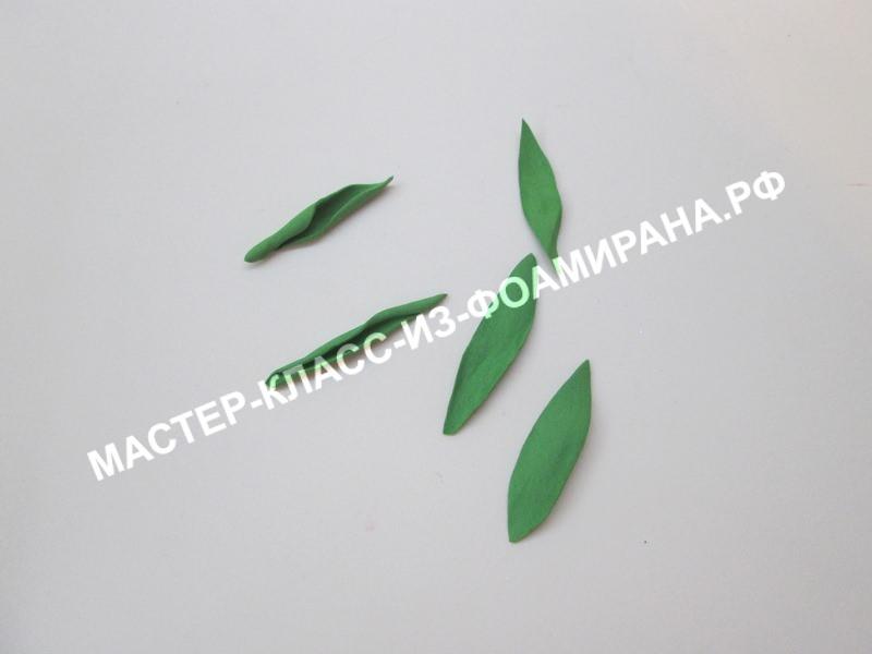 Мастер-класс по фоамирану: маленькая лилия на магните, пошаговые фото.