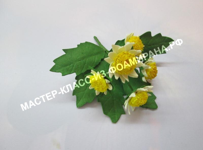 Букет хризантем из фоамирана: мастер-класс, фото