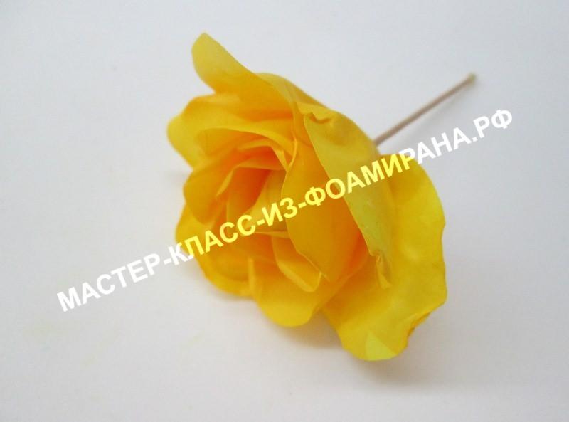 Мраморная роза из фоамирана: мастер-класс, пошаговые фото