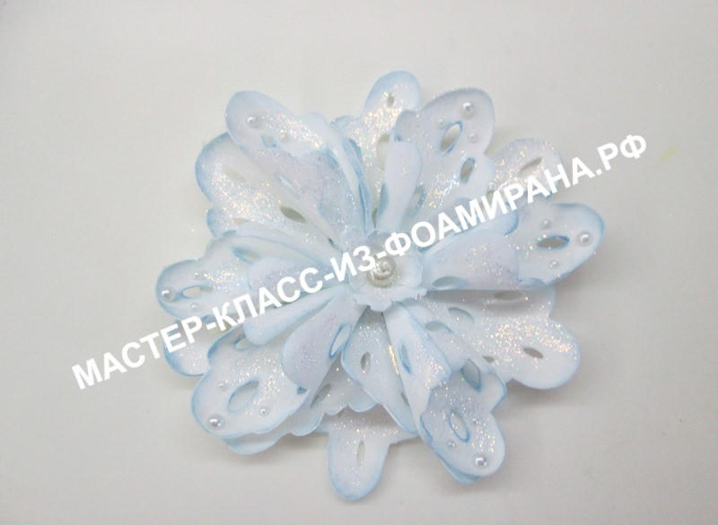 Новогоднее украшение из фоамирана, снежинка (пошаговый мастер-класс)