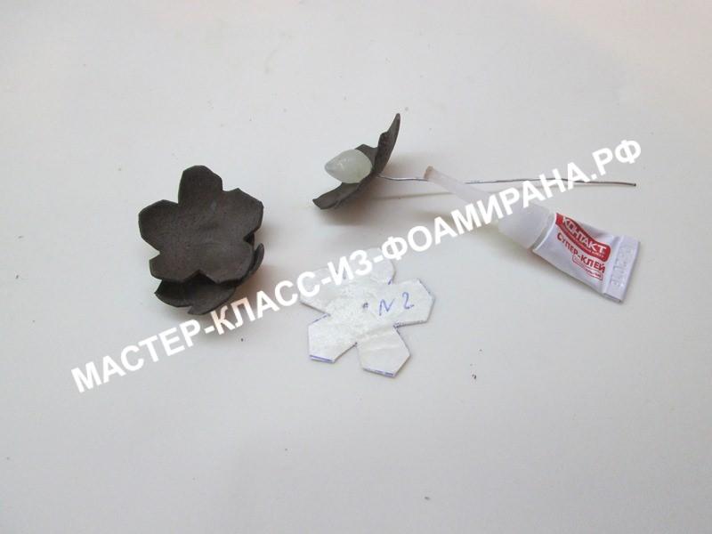 Мастер-класс по фоамирану: еловые шишки на ветке, пошаговые фото.