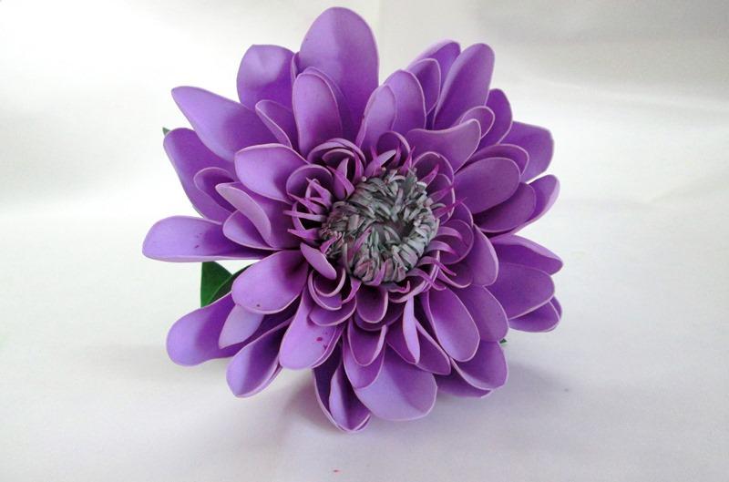 Цветы из фоамирана Георгин, фото