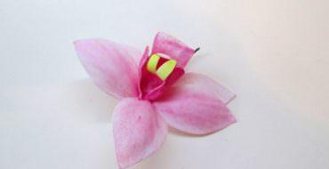 Орхидея цимбидиум из фоамирана, фото