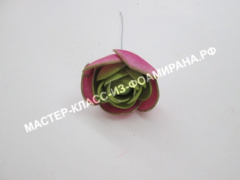 Сборка цветка ранункулюса