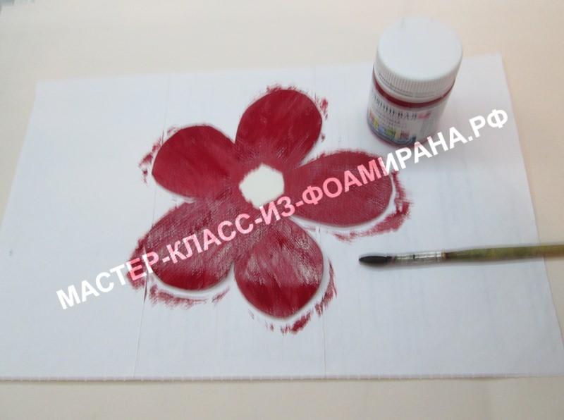 покраска лепестковых кругов розы