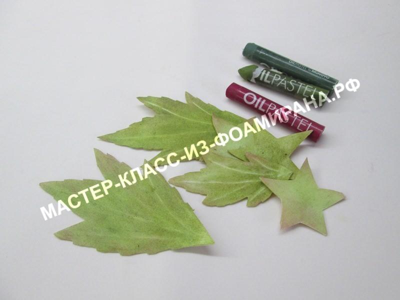 тонировка листьев и чашелистиков ранункулюса