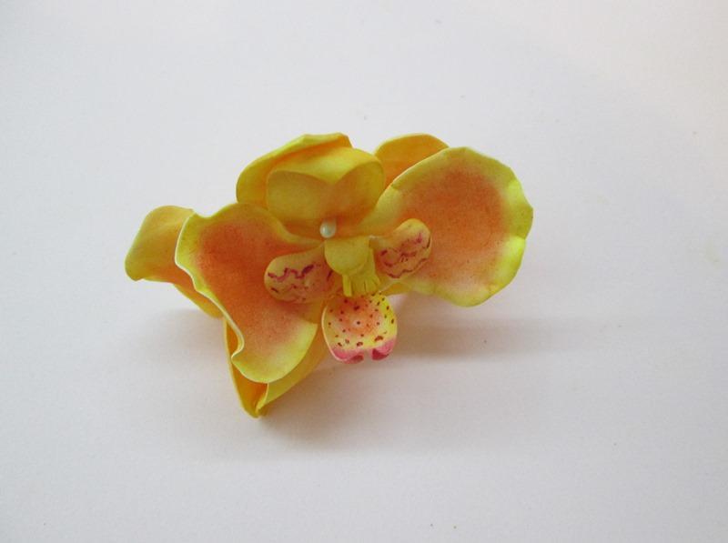 Сборка желтой орхидеи, пошаговое фото