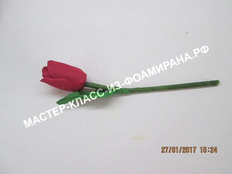 мастер-класс тюльпан из фоамирана