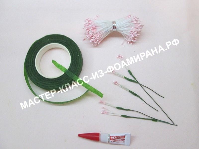 подготовка тычинок для цветов
