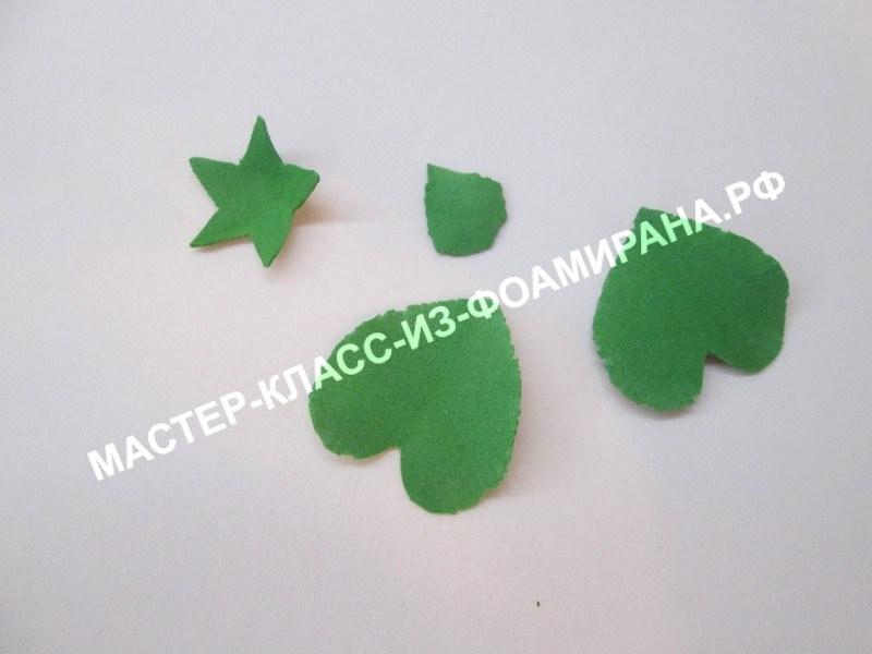 обработка листьев и чашелистиков