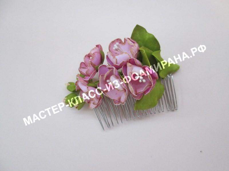 Цветы сакуры из фоамирана
