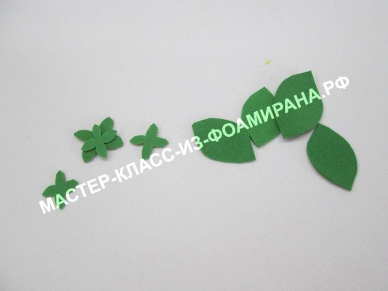 подготовка чашелистиков и листьев