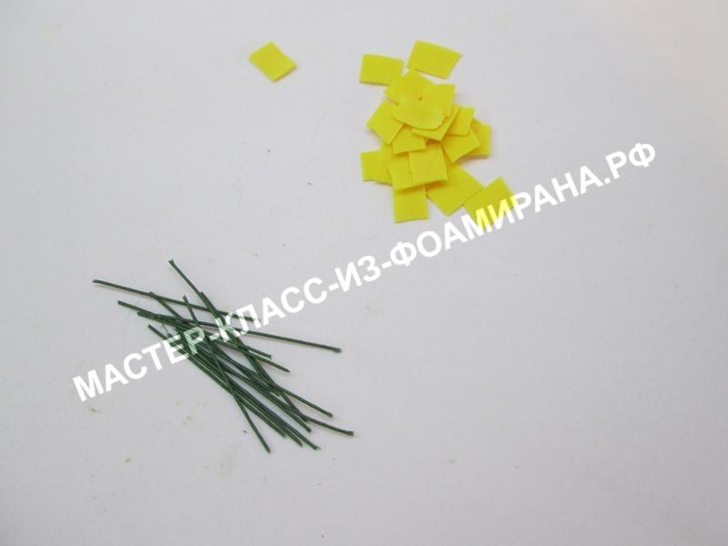 подготовка тычинок цветочка
