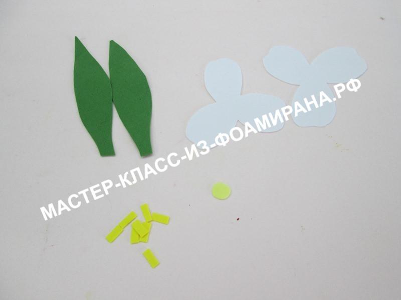 подготовка заготовок для тюльпана