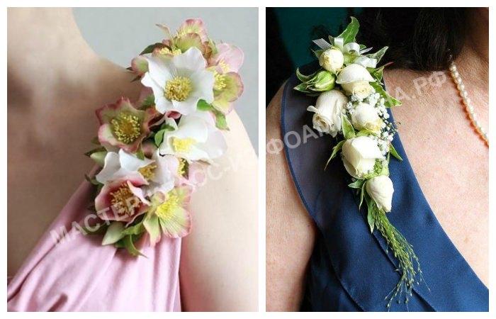 Цветы из фоамирана на платье