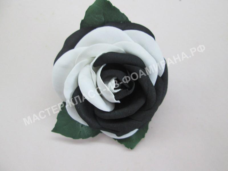 "мастер-класс роза ""Ань-Янь"" из фоамирана на резинке."