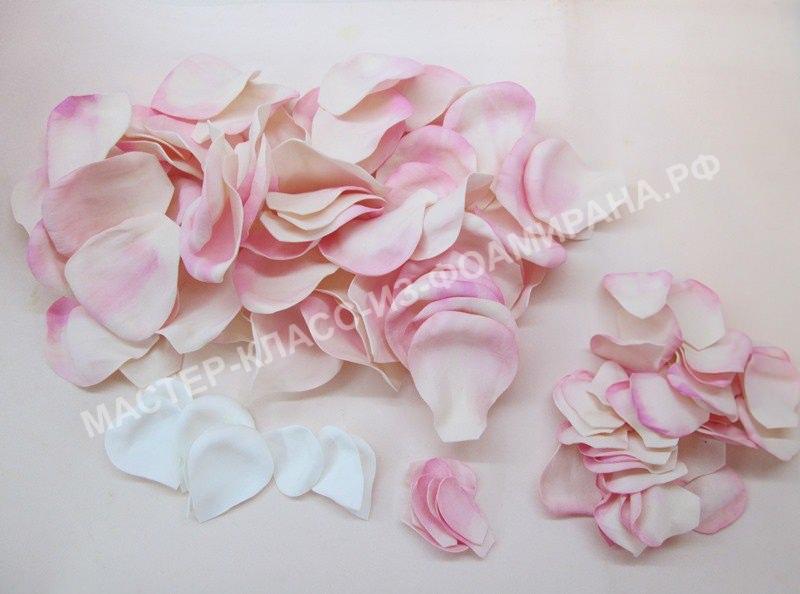 мастер- класс лепестки роз из фоамирана