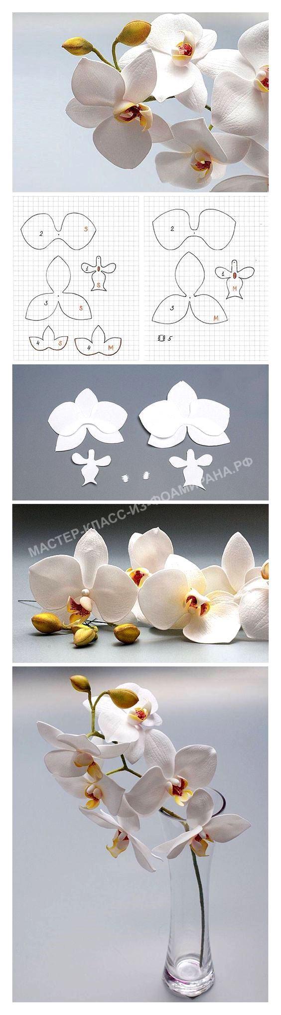 Выкройка красивого цветка орхидеи