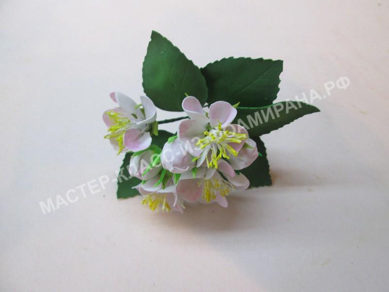 Цветы яблони из фоамирана, фото