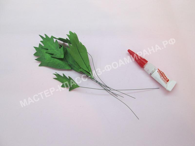 крепление листочков на литоны
