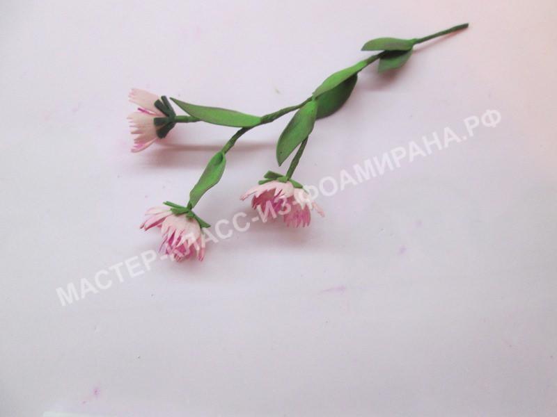 сборка цветочка и веточки
